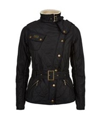 Barbour Quilted Shearling Jacket Black