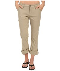 Royal Robbins Discovery Roll Up Pants Khaki Women's Casual Pants