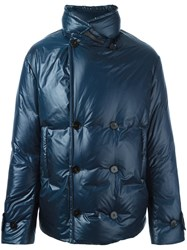 Maison Martin Margiela Funnel Neck Padded Jacket Blue