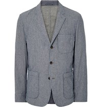 Alex Mill Blue Double Faced Cotton Chambray Blazer