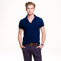 J.Crew Industry Of All Nations Clean Indigo Polo