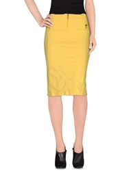 Blu Byblos Skirts Knee Length Skirts Women Yellow