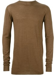 Rick Owens Funnel Neck Jumper Nude And Neutrals