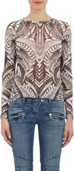 Balmain Tribal Print T Shirt Black Size 36 Fr