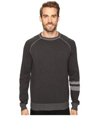 Agave Folsom Long Sleeve Supima Fine Gauge Charcoal Men's Long Sleeve Pullover Gray