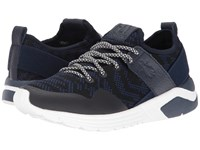 Fly London Salo825fly Blue Knit Leather Women's Shoes