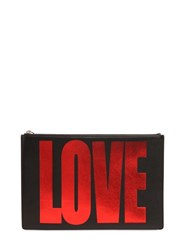 Givenchy Medium Love Laminated Leather Pouch