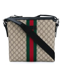 Gucci Web Gg Supreme Messenger Bag Oatmeal Green Red