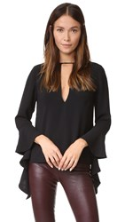 C Meo Collective Spelt Out Long Sleeve Top Black
