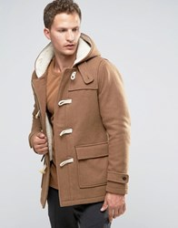 Selected Homme Wool Duffle Coat Camel Beige