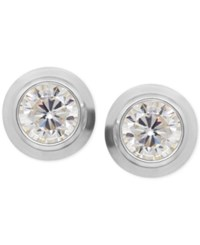 Macy's Cubic Zirconia Bezel Set Stud Earrings In 14K Yellow White Or Rose Gold