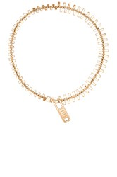 Marc By Marc Jacobs Lost And Found Zipper Necklace Metallic Gold