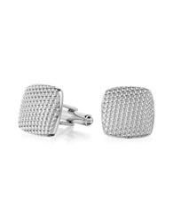Forzieri Evergreen Milled Square Cufflinks Silver