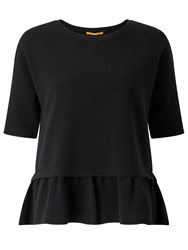 Hugo Boss Orange Tapep Peplum Top Black