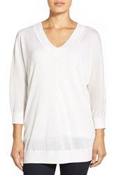 Women's Nordstrom Collection Dolman Sleeve V Neck Cashmere Sweater