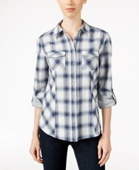 Styleandco. Style Co. Plaid Button Front Shirt Only At Macy's Gavensport Blue