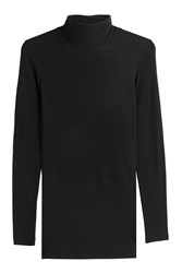 Closed Turtleneck Pullover With Cashmere Black