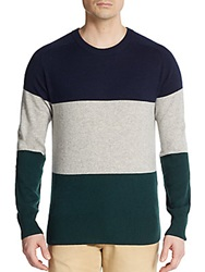 Gant By Michael Bastian Tricolor Colorblock Cashmere Sweater Multi