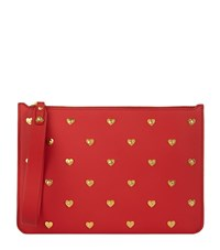 Sophie Hulme Talbot Hearts Pouch Female Crimson