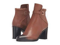 Salvatore Ferragamo Florian Ecorce Light Pebbled Leather Women's Boots Brown