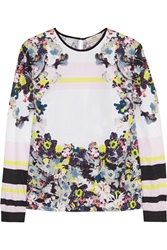 Erdem Printed Cotton Poplin Top White