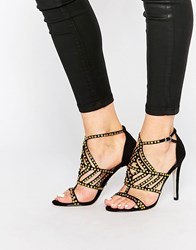 Ravel Strappy Heeled Sandals Black