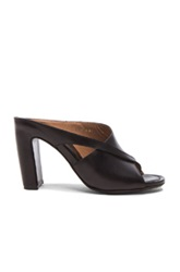 Maison Martin Margiela Maison Margiela Wave Runway Leather Mules In Black