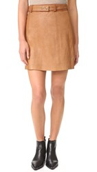 Ryder Jackson Leather Skirt Brown