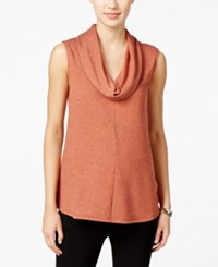 Styleandco. Style Co. Sleeveless Cowl Neck Top Only At Macy's Rich Auburn