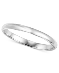 Macy's 14K White Gold 2Mm Wedding Band No Color