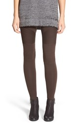 Junior Women's Bp. Pintuck Seamed Leggings Brown Mole
