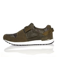 River Island Mens Green Camouflage Print Sports Trainers