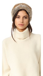 Jocelyn Colorblock Fur Knit Hat Natural Multi