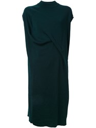 Enfold Asymmetric Wrap Dress Green