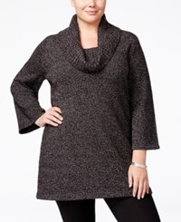 Karen Scott Plus Size Cowl Neck Tunic Only At Macy's Black White Marble