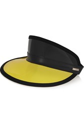 Fendi Faux Leather Trimmed Pvc Visor