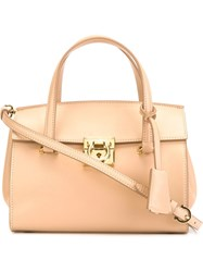 Salvatore Ferragamo 'Mara' Tote Nude And Neutrals