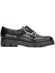 Santoni Chunky Sole Loafers Black