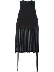 Tim Coppens Pleated Back Tank Top Black
