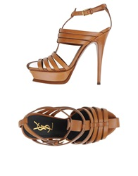 Yves Saint Laurent Rive Gauche Sandals Brown