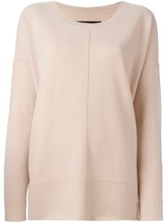By Malene Birger Scoop Neck Jumper Nude And Neutrals