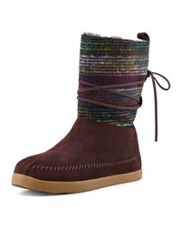 Striped Suede Nomad Boot Brown Toms