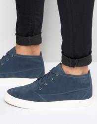 Pointer Randall Mid Plimsoll In Suede Blue