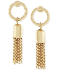 Bcbgeneration Circle Tassel Drop Earrings Gold