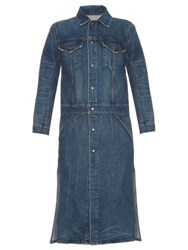 Helmut Lang Long Line Denim Trench Coat