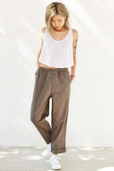 Your Neighbors Milo Relaxed Linen Boyfriend Pant Charcoal