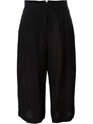 Lost And Found Wide Leg Cropped Trousers Black