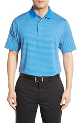 Bobby Jones Men's 'Edge Stripe Xh20' Stretch Golf Polo Nautical Blue