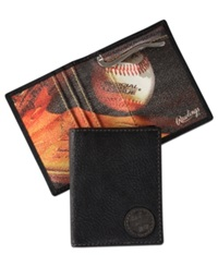 Rawlings Sports Accessories Rawlings Vintage America Murano Money Holder Wallet Black
