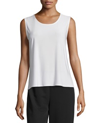Caroline Rose Basic Knit Tank White